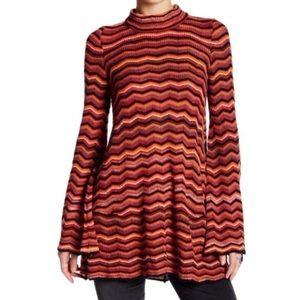 FREE PEOPLE Textured Bell Sleeve Dress Size Medium
